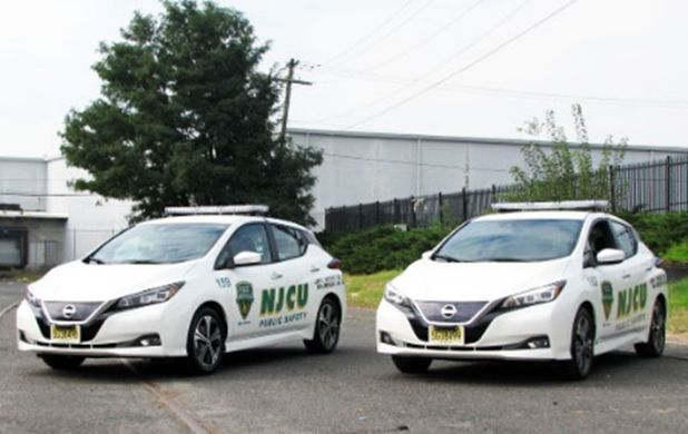 The university expects big savings with its new battery-electric patrol vehicles, because the vehicles are often left idling and subject to stop-and-go driving more often than other fleet vehicles.  - Photo courtesy of New Jersey City University