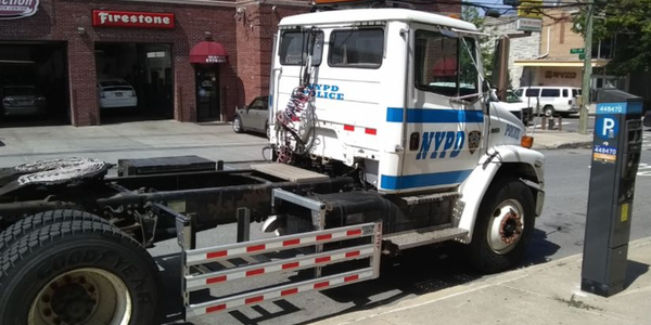 Truck side guards have been installed to protect pedestrians and bicyclists.