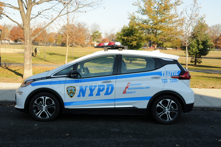 The NYPD uses Bolt electric vehicles for traffic and school safety.  - Photo courtesy of NYPD