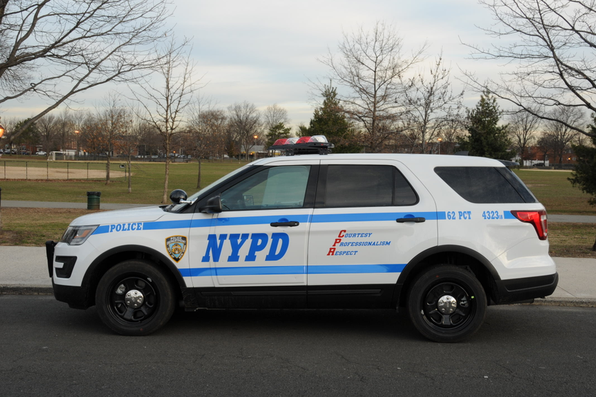 Pictured is a standardFord Utility Interceptor used for patrol.