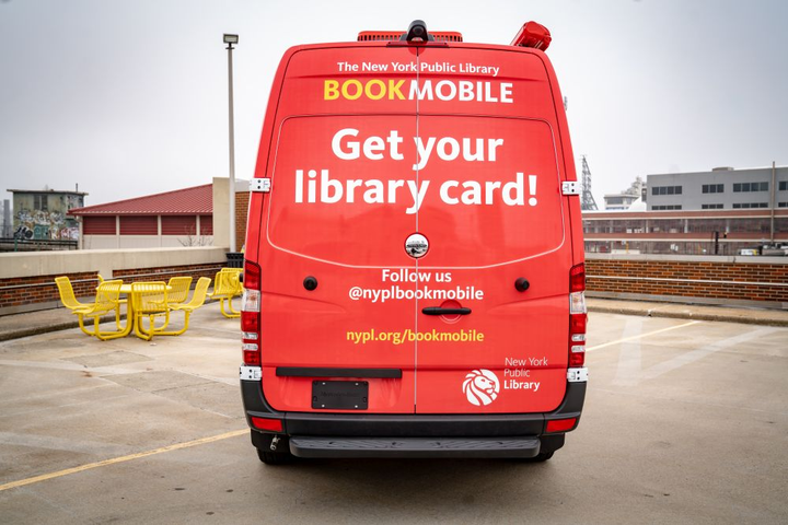Residents will be able to browse the mobile library, return books, sign up for a library card, and receive other services at a bookmobile.