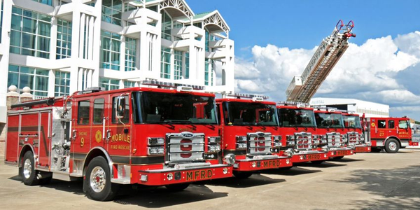 Pierce Manufacturing has delivered five Enforcer pumpers and an Ascendant 107-foot Aerial Ladder...