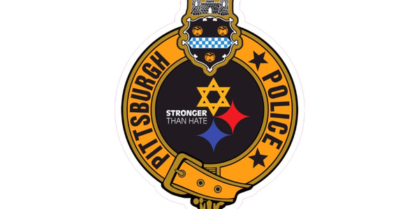 The decal references a shooting that took place at a synagogue in October.