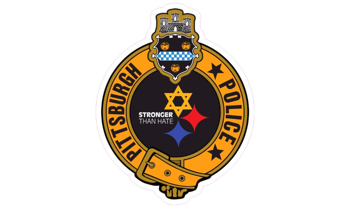 The decal references a shooting that took place at a synagogue in October. - Photo courtesy of Pittsburgh Police