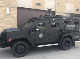 The BearCat is a diesel powered, 4-wheel drive, 10-passenger armored rescue vehicle.