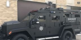 Iowa County's New Armored Vehicle Can Put Out Fires