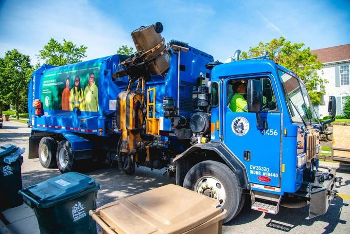 The City of Madison's fleet vehicles that run on diesel, including refuse trucks, will now be fueled with B20.