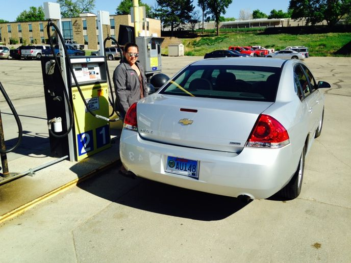 About 65% of the South Dakota Fleet and Travel Management Division's fleet consists of flex-fuel vehicles.