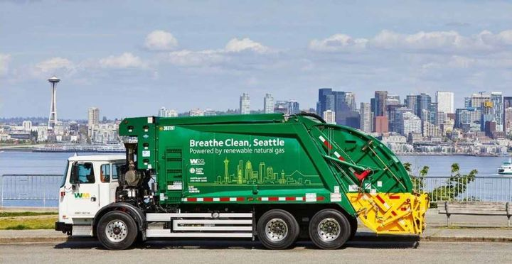 Seattle Public Utilities' green fleet will include 91 Waste Management trucks powered by renewable natural gas (RNG).