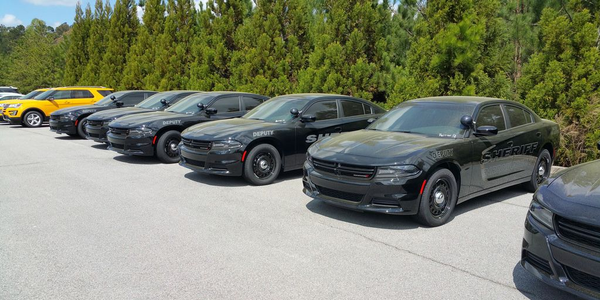 Pictured are some of Barrow County's new patrol vehicles. The county is looking to replace more...