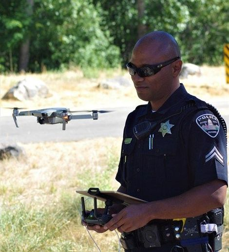 The Boise Police Department has purchased four drones, and four officers are certified to fly them. - Photo courtesy of Boise Police Department