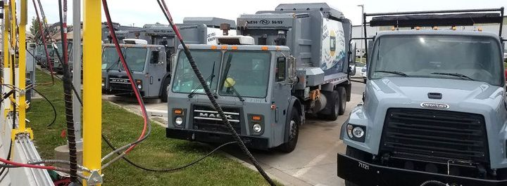 The CNG fueling stations will be used for refuse trucks and buses.