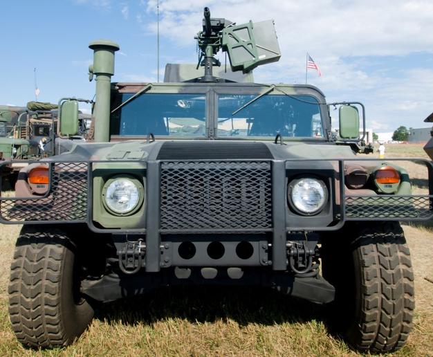 The Hackensack Police Department received a donated military surplus vehicle similar to this one.