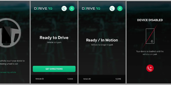 The Derive VQ system includes a smartphone app. Image courtesy of Derive
