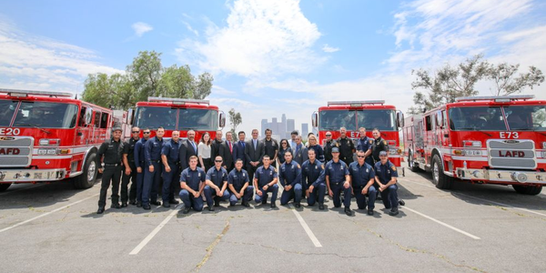 Los Angeles Adds 4 Fire Trucks with FEMA Grant