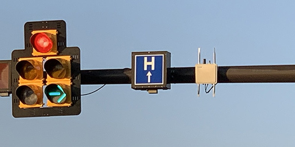 Roadside unit installed at a Dublin intersection