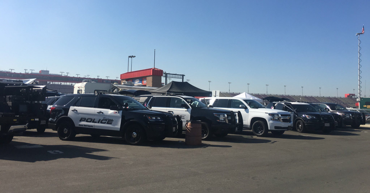 The Los Angeles Sheriff's Department's annual vehicle evaluation and product expo attracted police fleets from all over the area.