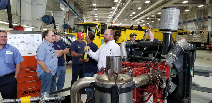More than 50 technicians gathered for training at the City of Columbus, Ohio.