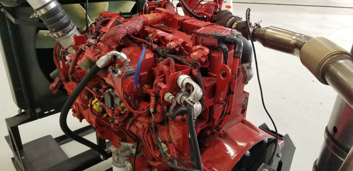 Technicians received training on the Cummins ISL9 G natural gas engine.