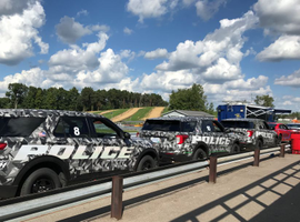Shown are some Ford vehicles being tested by the Michigan State Police.