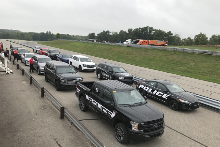 The Michigan State Police tested 13 police vehicles this past week.  - Photo courtesy of Ford