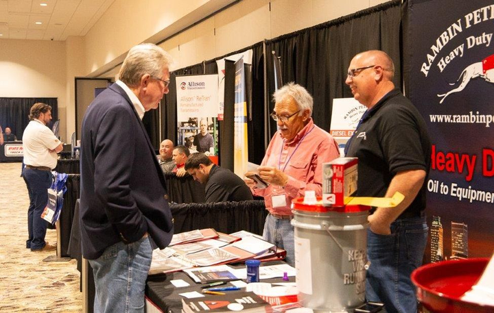 Conference attendees had the chance to talk to exhibitors.