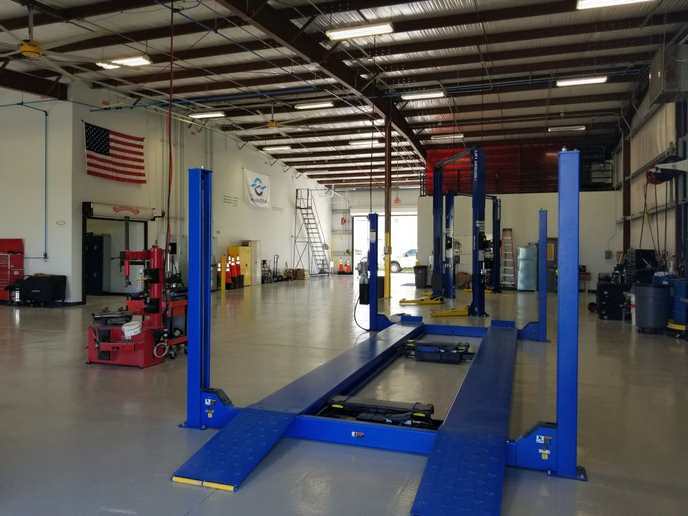 The fleet side of the Canaveral Port Authority's consolidated building includes eight work bays.  - Photo courtesy of Canaveral Port Authority