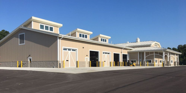 The Forest Preserve District of DuPage County's fleet facility exterior was designed to fit its...
