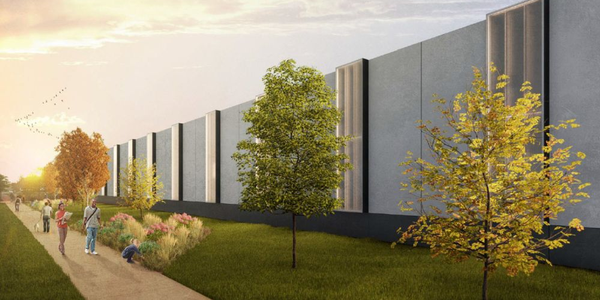 Rendering of the Iowa City public works facility
