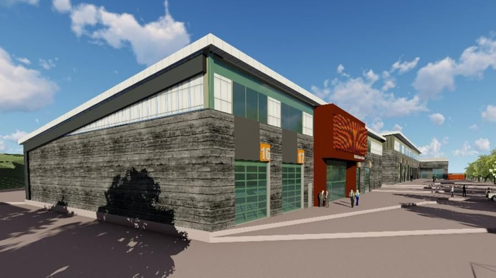 Pictured is the preliminary exterior design of the new fleet facility.