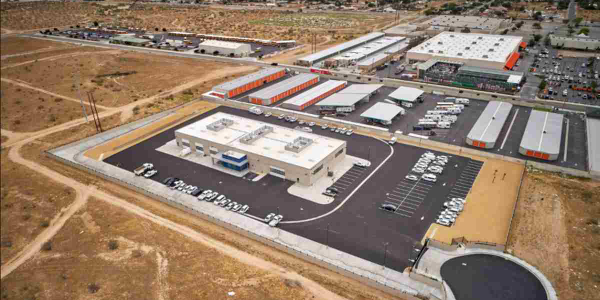 The five-acre site houses San Bernardino County's newest fleet facility.