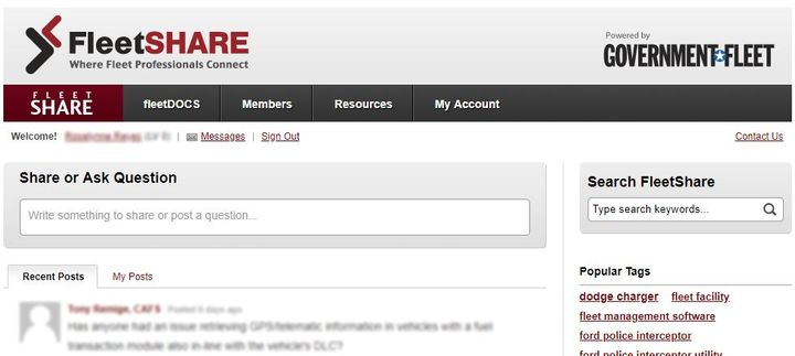 FleetSHARE is a networking tool open exclusively to public sector fleet professionals.  -