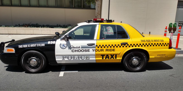 The City of Glendale (Calif.) Police Department's DUI awareness vehicle is designed to look like...
