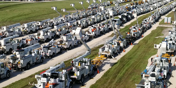 In north central Fla., more than 7,000 pieces of equipment are ready to help Duke Energy restore...