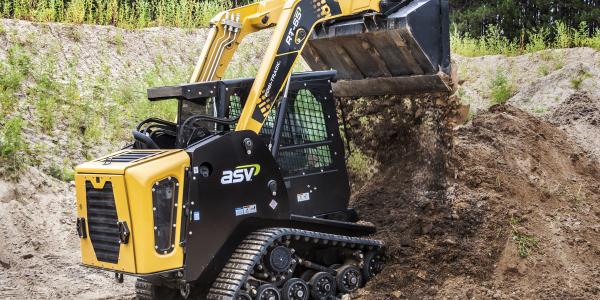 ASV produces compact equpment such as this radial-liftRT-65Posi-Trackcompact track loader.
