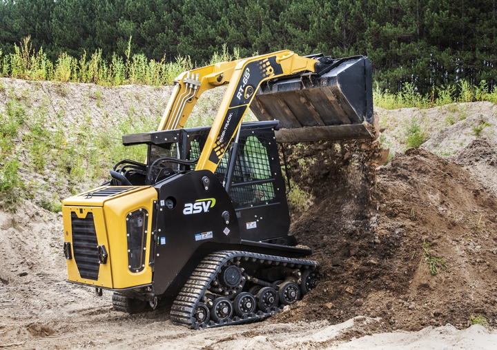 ASV produces compact equpment such as this radial-lift RT-65 Posi-Track compact track loader.