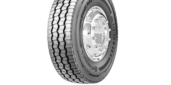The clearly labeled Conti HAU 3 WT is a heavy truck tire, designed for all-position use, in...