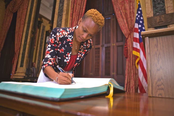 Chichi Nyagah-Nash was sworn in as Director of the Department of General Services.