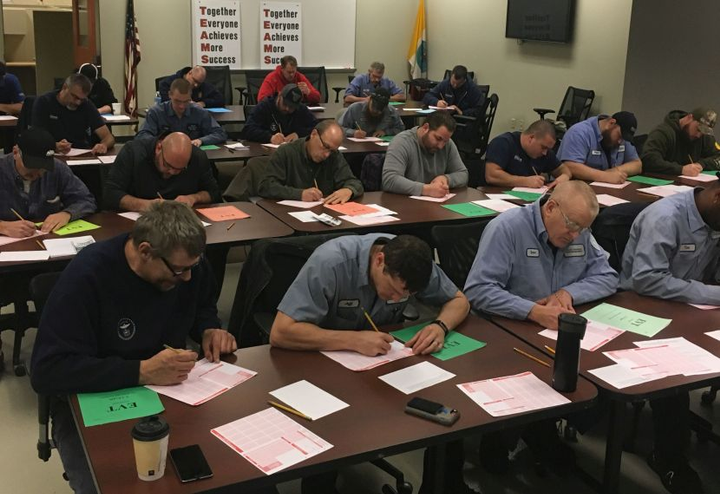 The City of Columbus staff proctored EVT certification testing.