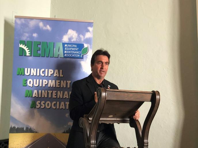 The association thanked Past President Paul Condran, who led MEMA from 2014-2018.  - Photo courtesy of MEMA