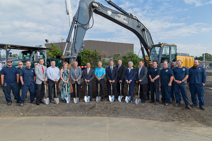 Monmouth County officials and staff pose at the groundbreaking for a new maintenance facility.  - Photo courtesy of Monmouth County