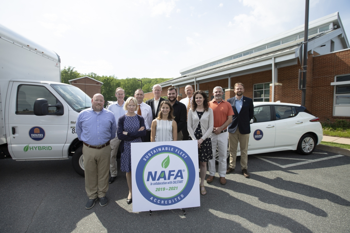 The University of Virginia fleet staffed collaborated in the alternative-fuel program and to achieve accreditation.