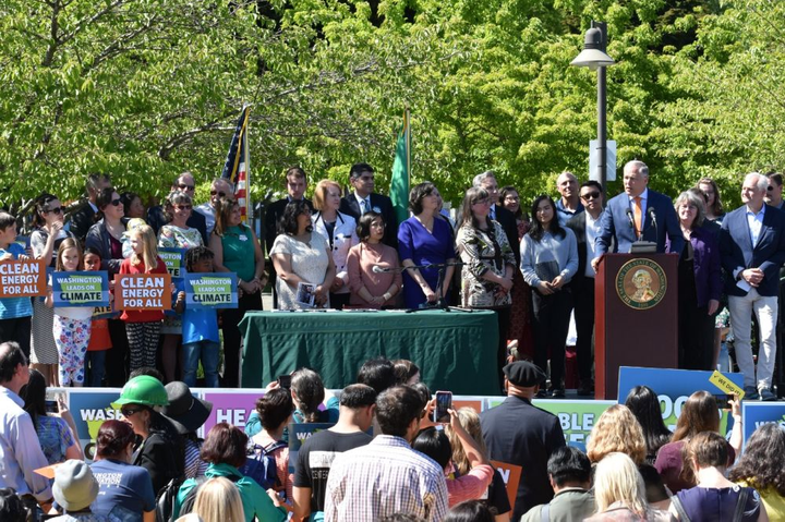 Governor Jay Inslee signed several clean energy bills this week.  - Photo courtesy of the Washington Office of the Governor