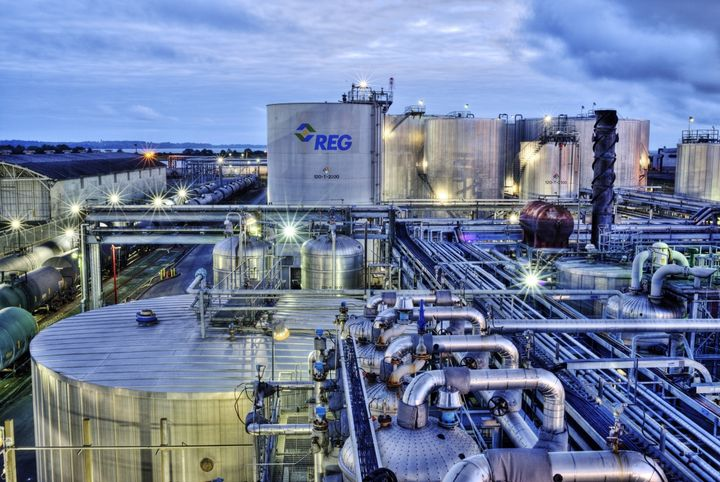 Pictured is the REG Grays Harbor, the company's biorefinery near Seattle.