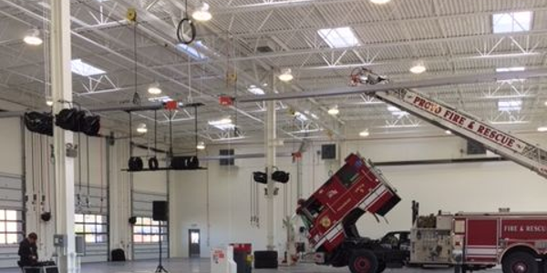 NEW FACILITY: The new facility has ceilings high enough to accomodate fire trucks. Photo...
