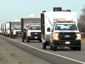 Calif. Governor Sends Trailers to House Homeless