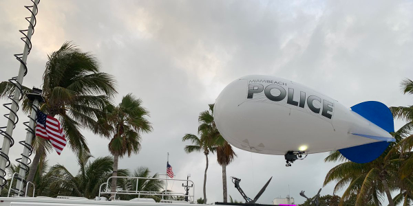 Miami Beach PD Gets Around Drone Ban with Blimps