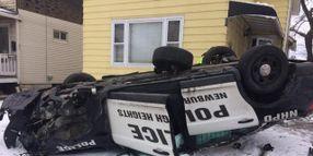 Ohio Officer Hospitalized After Rollover Crash