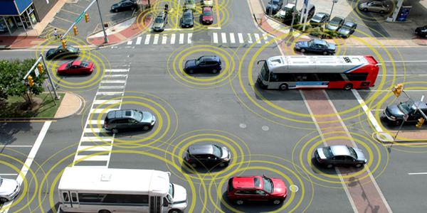 Connected vehicle technology would allow vehicles to communicate with each other and with...