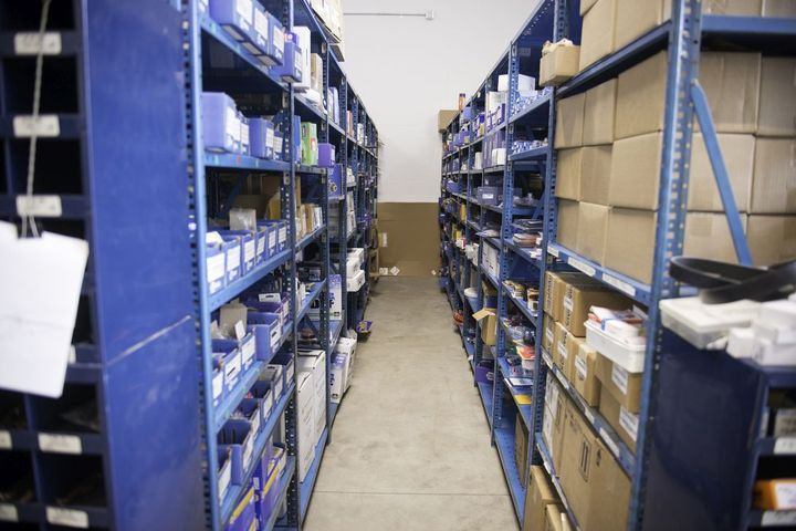 - File photo of a parts room